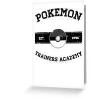 Pokemon Trainers Academy Greeting Card