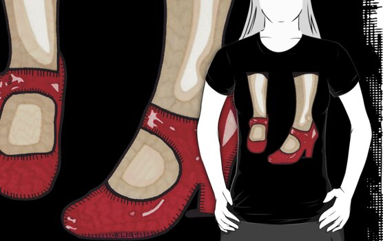 The Red Shoes T-Shirt by Angelique  Moselle