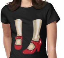 The Red Shoes T-Shirt Womens Fitted T-Shirt