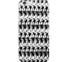 Black and white double crochet  iPhone Case/Skin