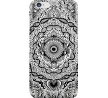 Rain in the Garden - black and white iPhone Case/Skin