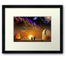 Between Past and Present Framed Print