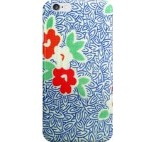 Vintage Fabric Blues iPhone Case/Skin