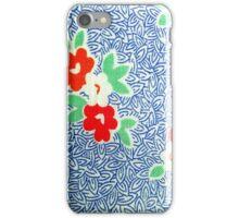 Vintage Fabric Blues iPhone Case/Skin