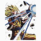 SSJ Goku Kamahameha by Kazziix
