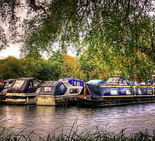 Moored Up boats HDR by Vicki Field