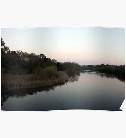 River Sundown Poster