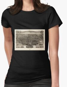 Panoramic Maps Bird's eye view of Plainville Connecticut 1907 T-Shirt