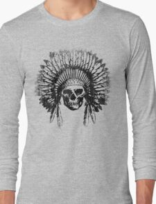 Vintage Chief Skull Design Long Sleeve T-Shirt
