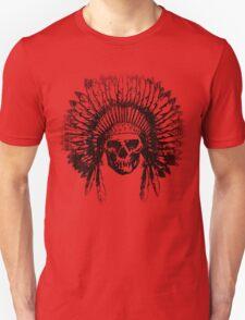 Vintage Chief Skull Design T-Shirt