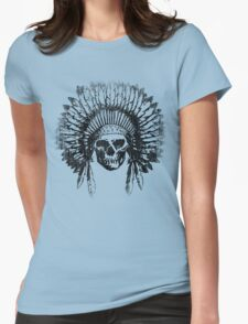 Vintage Chief Skull Design Womens Fitted T-Shirt