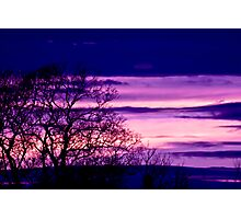 Purple Dusk Photographic Print