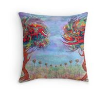 Painting Trees... Throw Pillow