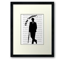 the indispensable Mycroft Holmes Framed Print