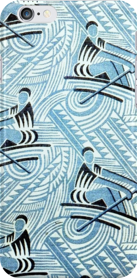 Rowing Soviet fabric c. 1920-1930 by BettyBanana