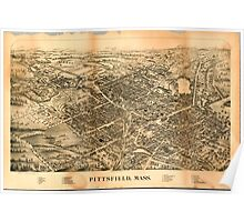 Panoramic Maps Pittsfield Mass Poster