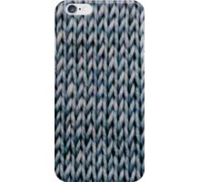 Blue Stockinette iPhone Case/Skin