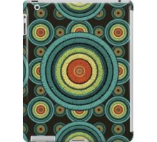 back to 70's, blue,green, yellow iPad Case/Skin
