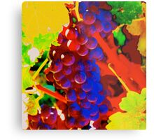 Artistic Grape Vine Metal Print
