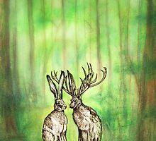 Happy Easter Deer by Carrie Glenn