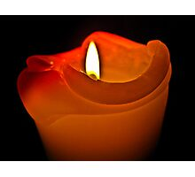 Flame melts the heart Photographic Print
