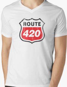 Vintage Route 420 Mens V-Neck T-Shirt