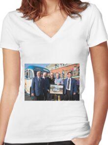 Chris Evans in Brighton Women's Fitted V-Neck T-Shirt