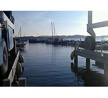 Sunny Dorset Lake Boat Yard - Poole Photographic Print