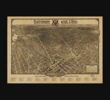 Panoramic Maps Washington the beautiful capital of the nation Kids Tee
