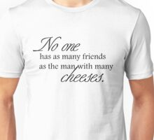 Cheese Friends black for high necked Unisex T-Shirt