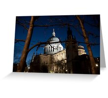 St Paul's Cathedral by twilight Greeting Card