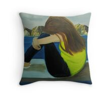 Its ok to cry when you feel no one loves you Throw Pillow