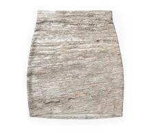Old Wood Texure Mini Skirt