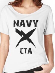 US Navy CTA Insignia - Black Women's Relaxed Fit T-Shirt