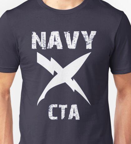 US Navy CTA Insignia - White Unisex T-Shirt