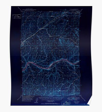 USGS Topo Map Washington State WA Haas 241453 1950 62500 Inverted Poster