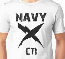 US Navy CTI Insignia - Black Unisex T-Shirt