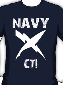 US Navy CTI Insignia - White T-Shirt