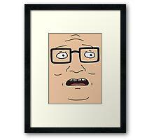 Hank Face Framed Print
