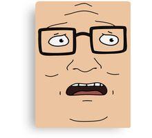 Hank Face Canvas Print
