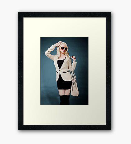 Trendy Shopper Framed Print