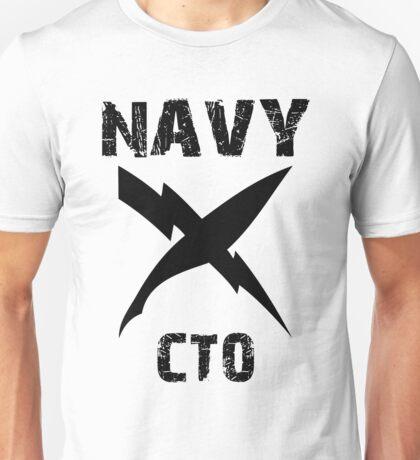 US Navy CTO Insignia - Black Unisex T-Shirt