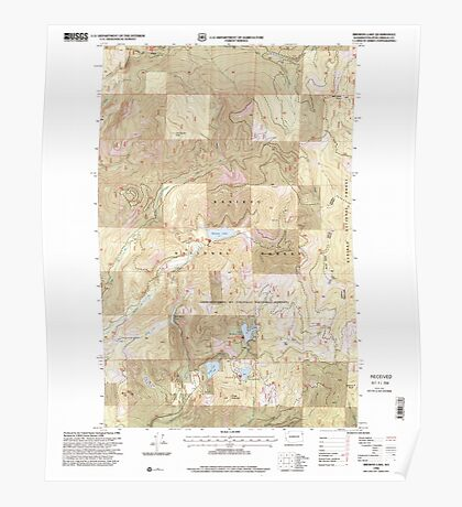 USGS Topo Map Washington State WA Browns Lake 240245 1996 24000 Poster