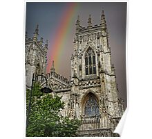 Rainbow over York Minster. Poster