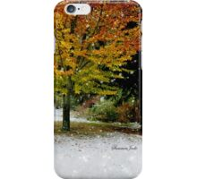 Beech Tree ~ Caught in a Snow Flurry iPhone Case/Skin