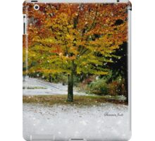 Beech Tree ~ Caught in a Snow Flurry iPad Case/Skin