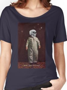 Who Says I'm Scart? (Vintage Halloween Card) Women's Relaxed Fit T-Shirt