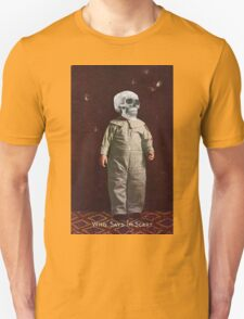 Who Says I'm Scart? (Vintage Halloween Card) Unisex T-Shirt