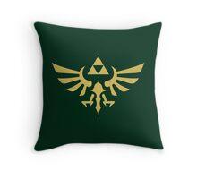 The Legend of Zelda Royal Crest (gold) Throw Pillow