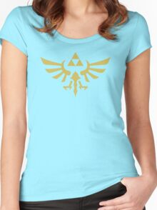 The Legend of Zelda Royal Crest (gold) Women's Fitted Scoop T-Shirt